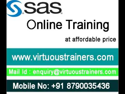 SAS Online Training at affordable Price in Hyderabad