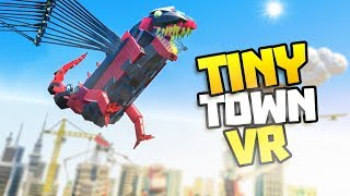 MEGA DRAGON JOINS THE BATTLE! - Tiny Town VR Gameplay Part 10 - VR HTC Vive Gameplay