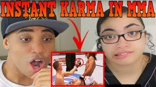 Instant Karma in MMA REACTION | MY DAD REACTS