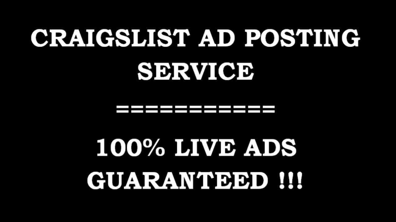 Craigslist Posting Service - Live Ads For You - YouTube