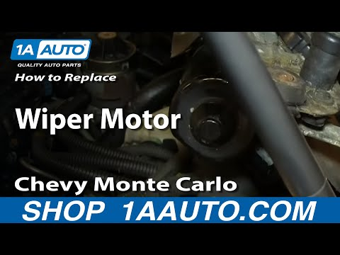 How To Install Replace Wiper Motor 2000-05 Chevy Monte Carlo Impala