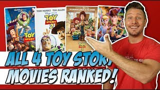 All 4 Toy Story Films Ranked!