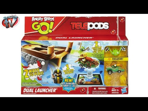 Angry Birds GO! Telepods Dual Launcher Play Set Toy Review. Hasbro