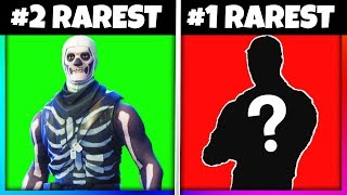 Top 10 Rarest Skins & Items in Fortnite: Battle Royale