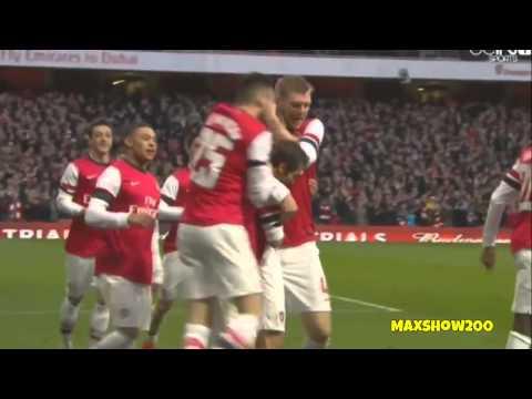 Arsenal 2-1 Liverpool All Goals 16/02/2014