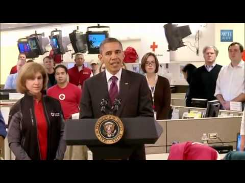 "Video: US-President Barack Obama at Red Cross"" sandy hurricane - FEMA"