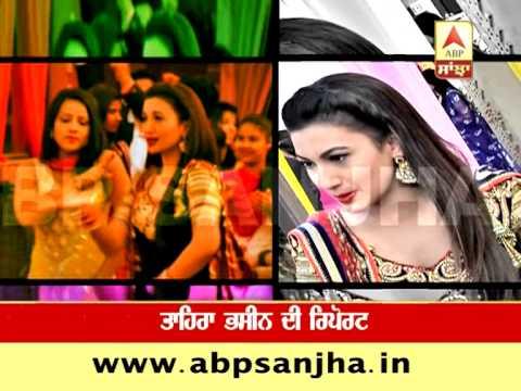 Jassi Gill, Gauhar Khan on sets of 'O Yaara Ainwayi Ainwayi Lut Gya'