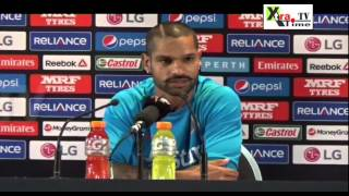 #CWC15 Pre-Match PC | It's good to see it's going the way I want and I'm enjoying it: Shikhar Dhawan