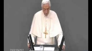 Pope farts during speach in German Parliement