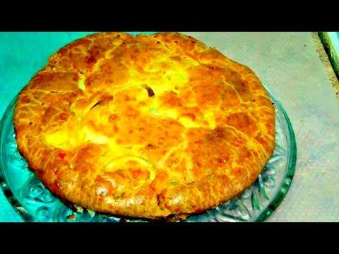 Вкусный пирог с курицей, картофелем, луком. Легко и просто