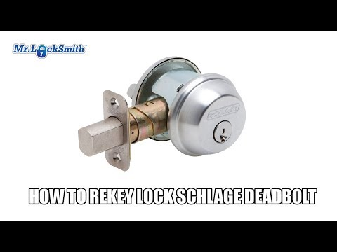 How to Re-key a Schlage Deadbolt | Mr. Locksmith Video