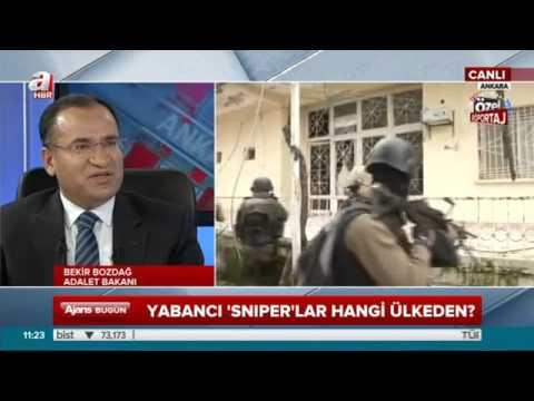 Adalet Bakanı Bekir Bozdağ A Haber canlı yayınında konuştu. 01.02.2016