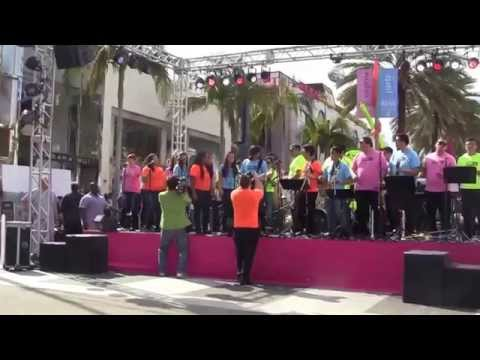 "Citrus College students perform  ""Valerie"" at  Beverly Hills 100th birthday block party"