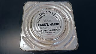 Opening 55 Year Old Survival Food - Civil Defense 1964 Carbohydrate Supplement Heller Hard Candy