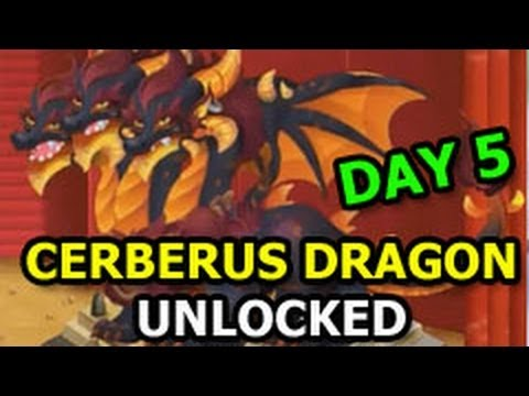 DUNGEON ISLAND Dragon City Three Headed CERBERUS Dragon Unlocked The Guardian Quest Completed DAY 5
