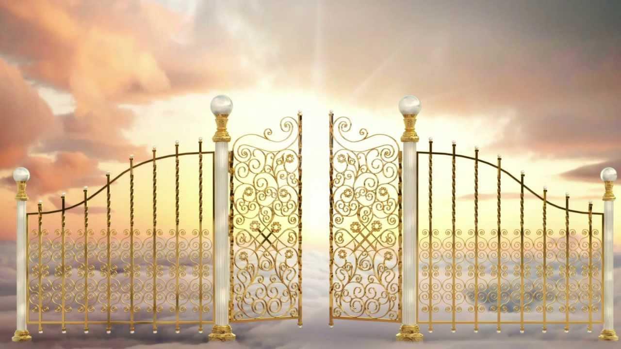 Heaven Gates Opening Heavens Gates Sfx Stock