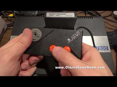 Classic Game Room - PLANET SMASHERS review for Atari 7800