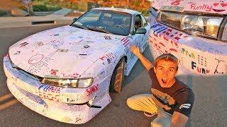 CAR WRAPPED WITH FAN MAIL! *REVEAL*