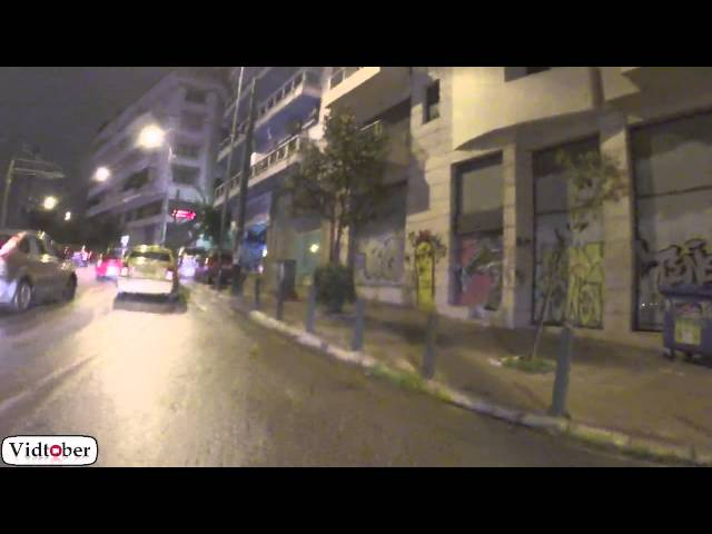 Video #24 #Vidtober 24 October 2014: A Late Night Walk In Athens, Greece