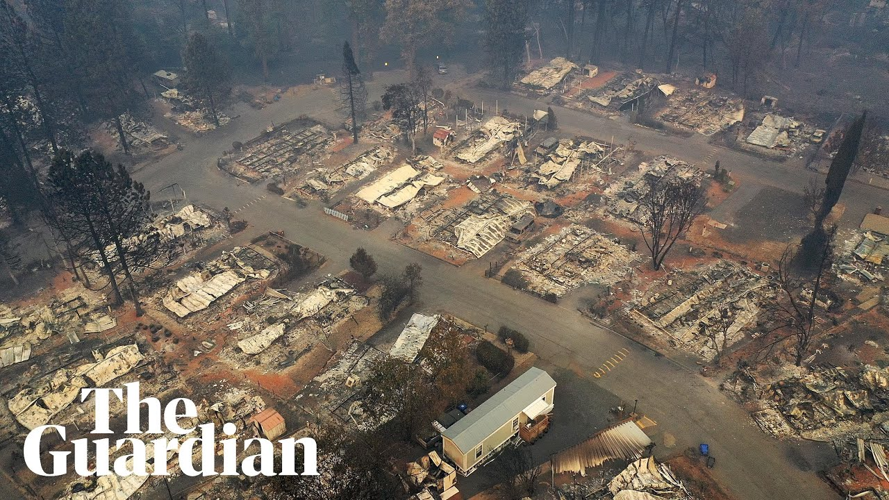 Aerial footage shows aftermath of California's deadliest wildfire