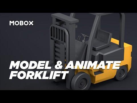 Model & Animate a Forklift - MAXON Cinema 4D (Tutorial)