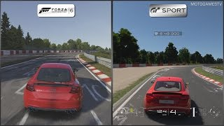 Forza Motorsport 6 vs Gran Turismo Sport Beta - Audi TTS Coupe at Nordschleife