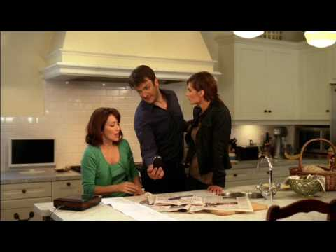 Richard Castle hazes Patricia Heaton Video