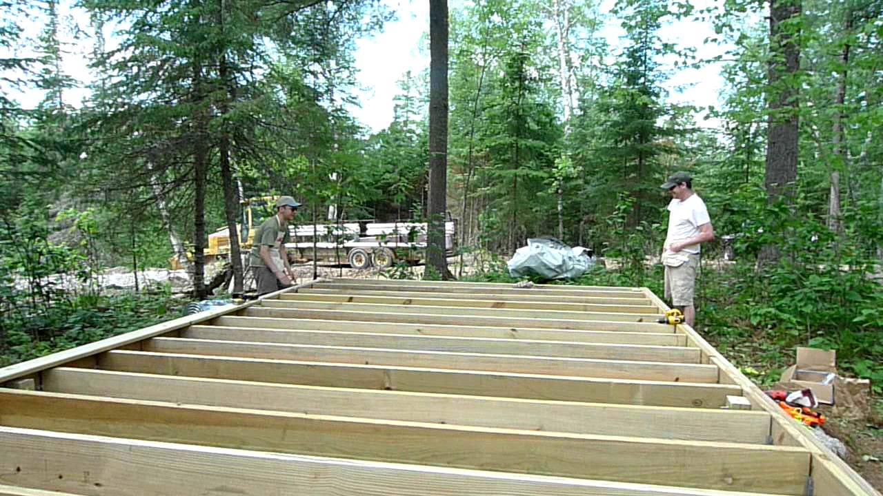Completing the tent platform frame july 4 2011 youtube for Tent platform design