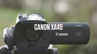 Canon XA45 – Compact 4K camcorder with professional recording capabilities