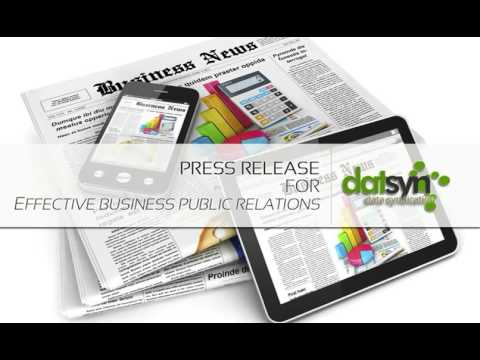 Press Release For Effective Business Public Relations