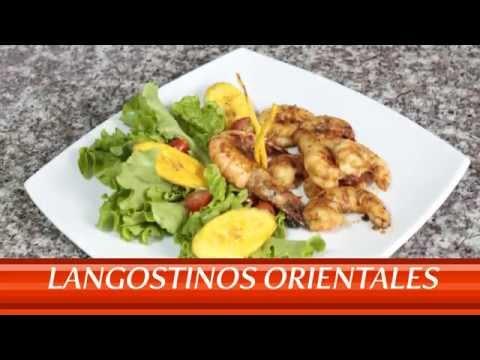 Recetas de Langostinos Orientales. Mi Cocina, La Favorita.