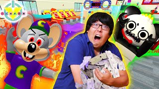 ESCAPE CHUCK E CHEESE! Roblox obby with Chuck E Cheese Let's Play with Ryan's Daddy!