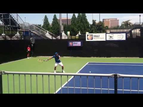 Lu Yen-Hsun Warm-up [BB&T Atlanta Open 2013] R1