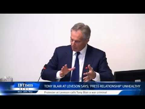 Tony Blair at Leveson says; 'press relationship' unhealthy