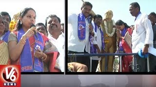 SC Community Will Hear Good News Soon From KCR, Says MP Kavitha In Nizamabad Tour
