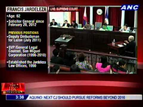 #CJsearch: Solicitor General Francis Jardeleza (2/3)