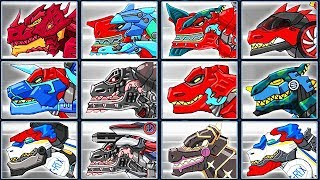 Dino Robot Corps #28: Fire Tyrannosaurus & 11 T-Rex | Eftsei Gaming