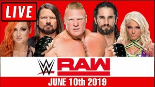 WWE Raw Live Stream - Full Show Watch Along June 10th 2019