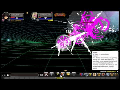AQW Darkblood Stormking Soloing Chaos Lord Iadoa 3 ways + Cracking Sky 65k Crit!
