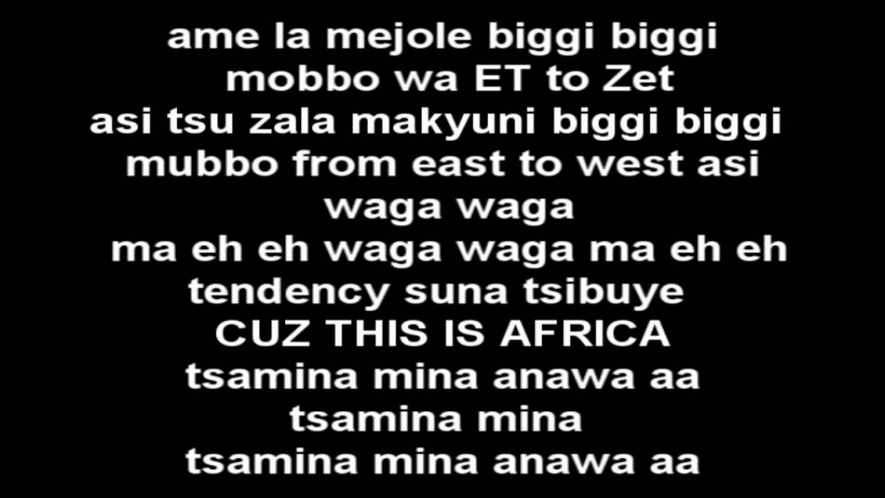 Shakira waka waka this time for africa lyrics youtube