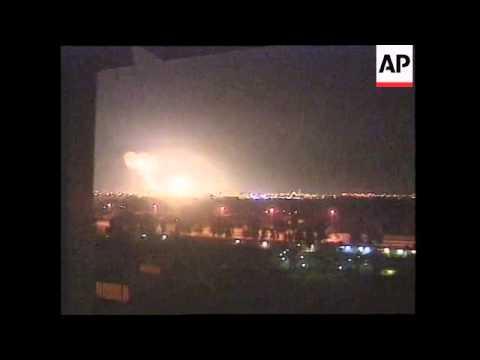 IRAQ: THIRD NIGHT AIR OFFENSIVE ON IRAQ