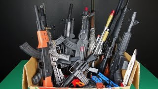 Box of Toys!! Military Toy Guns and Toy Rifles - Police Toy Weapons Equipment