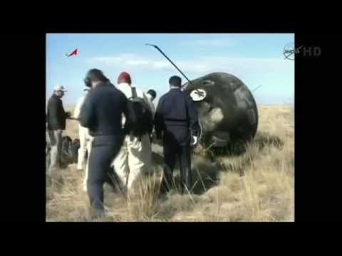 ISS Expedition 28 Replays Of Soyuz Spacecraft Landing