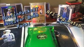BustinPacks87 Nuclear Bomb Pack! NFL Tag Patch!