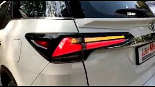 (TOYOTA FORTUNER) Modification MATRIX lexus tail lights and spoiler