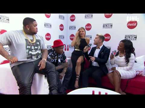 Fergie, YG, DJ Mustard Red Carpet Interview - AMAs 2014