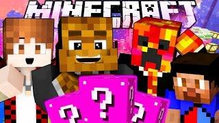 Minecraft PRINCESS LUCKY BLOCKS Sky Castle 2 VS 2 PVP Challenge w/ The Pack