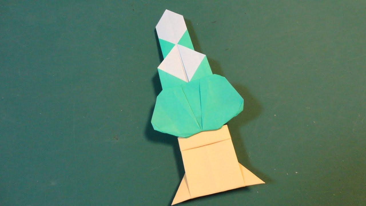 すべての折り紙 お正月の折り紙 : 正月「かどまつ」折り紙 New Year ...