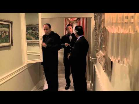 The Sopranos - Tony Sees Pussy's Ghost In A Mirror video
