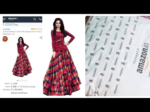 Amazon lehenga|amazon clothing review|affordable lehenga|online shopping review|lehenga under 500